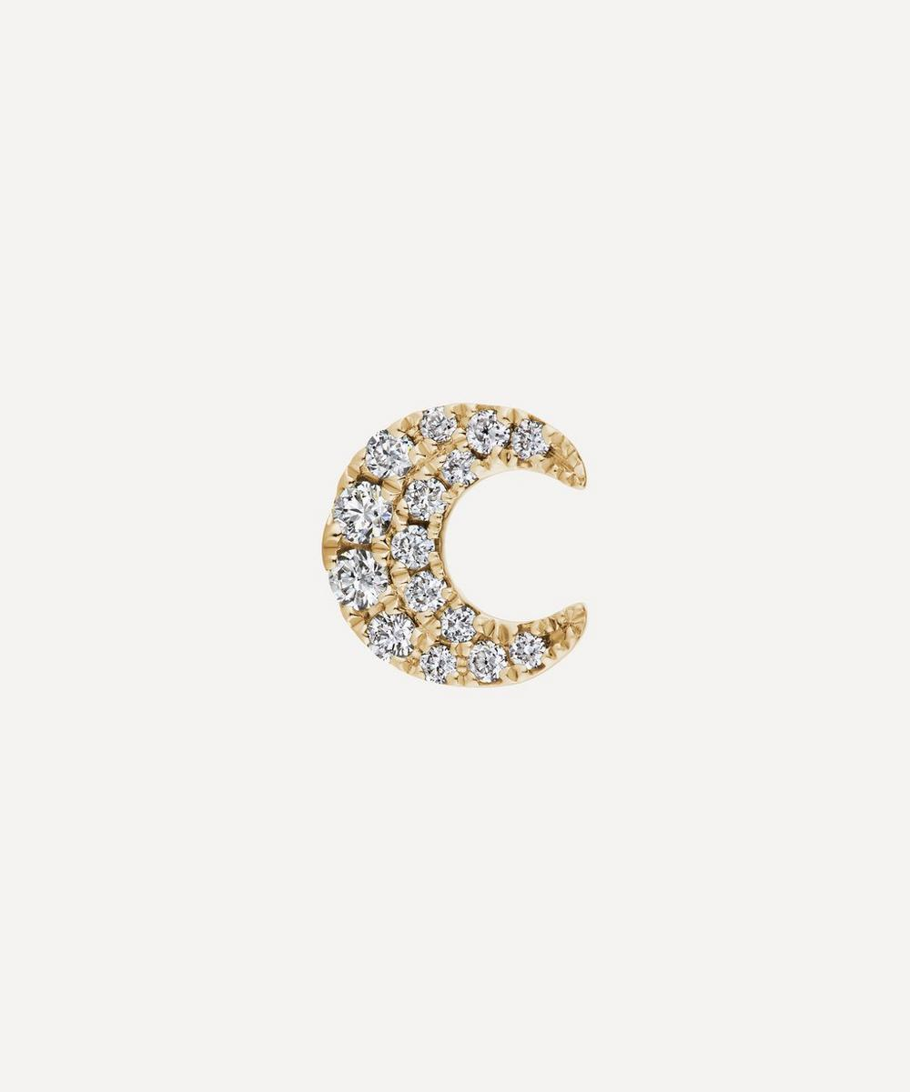 Maria Tash - Diamond Moon Threaded Stud Earring