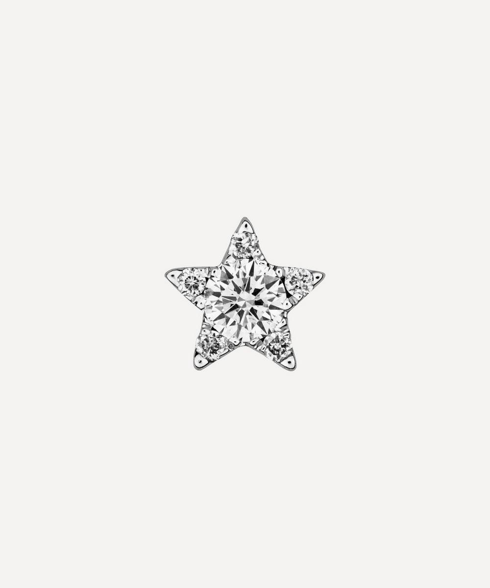 Maria Tash - 4.5mm Diamond Star Threaded Stud Earring