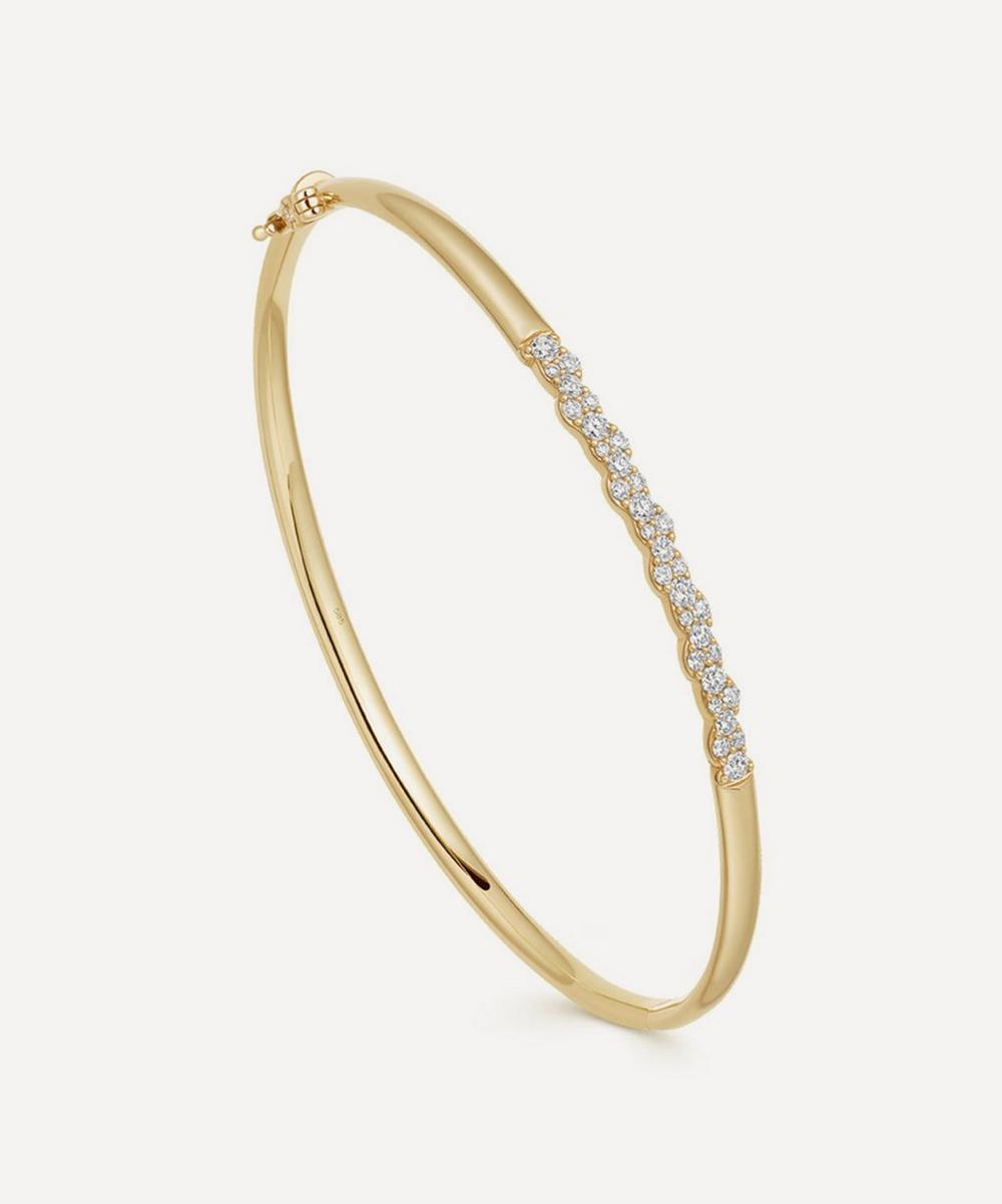 Astley Clarke - Gold Interstellar Diamond Bangle