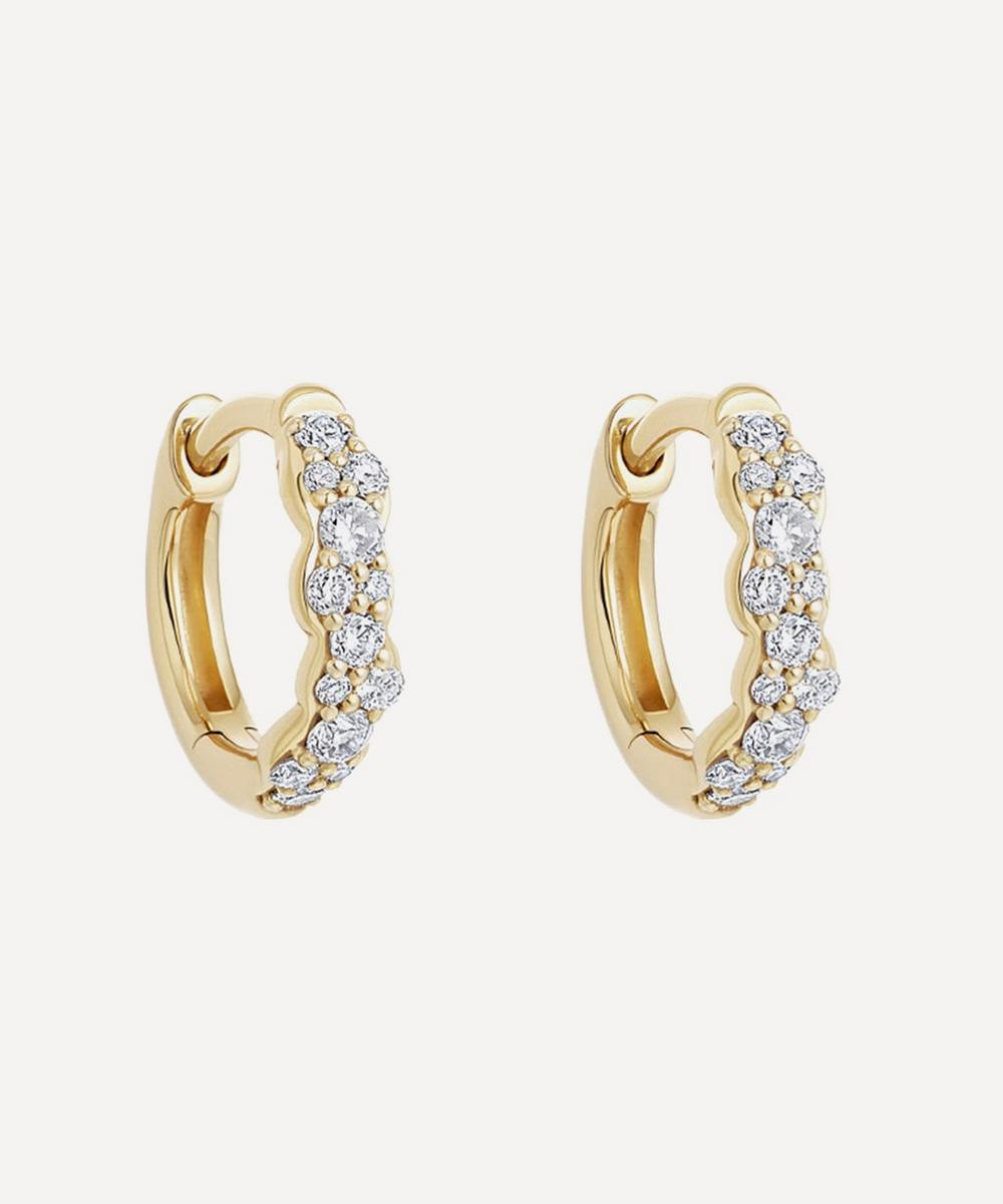 Astley Clarke - Gold Mini Interstellar Diamond Hoop Earrings