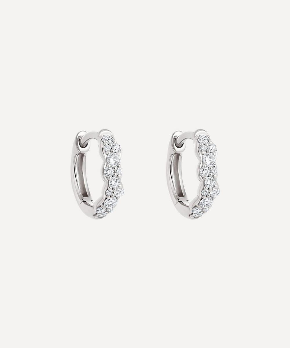 Astley Clarke - White Gold Mini Interstellar Diamond Hoop Earrings