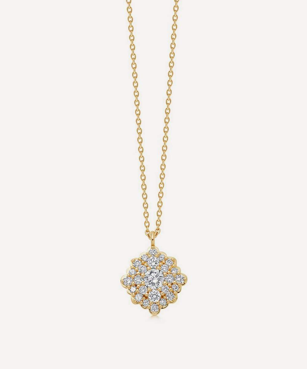 Astley Clarke - Gold Interstellar Cluster Diamond Pendant Necklace