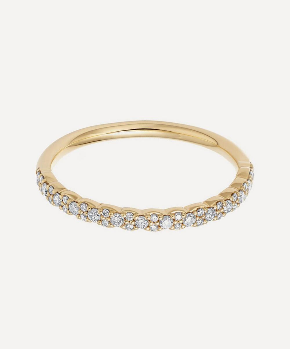 Astley Clarke - Gold Interstellar Diamond Half Eternity Ring