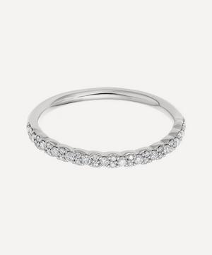 White Gold Interstellar Diamond Half Eternity Ring