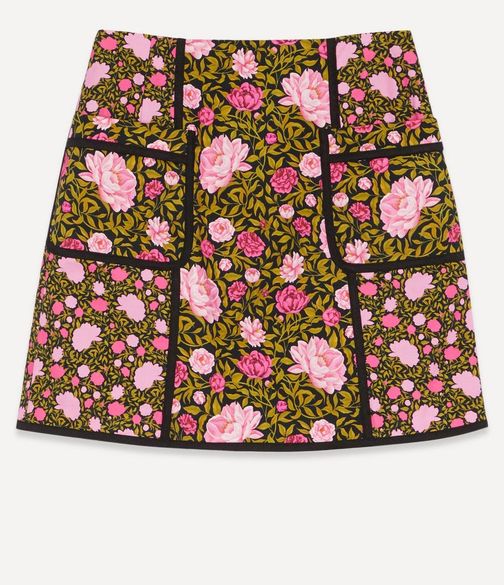 Liberty - Ophelia Stretch Cotton Mini Skirt