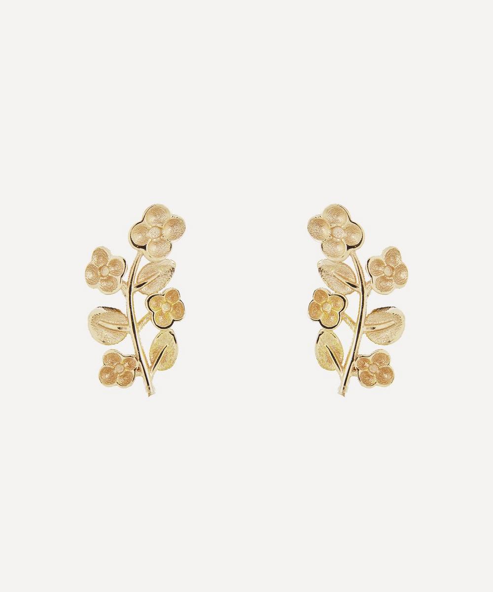 Liberty - Gold Blossom Stud Earrings