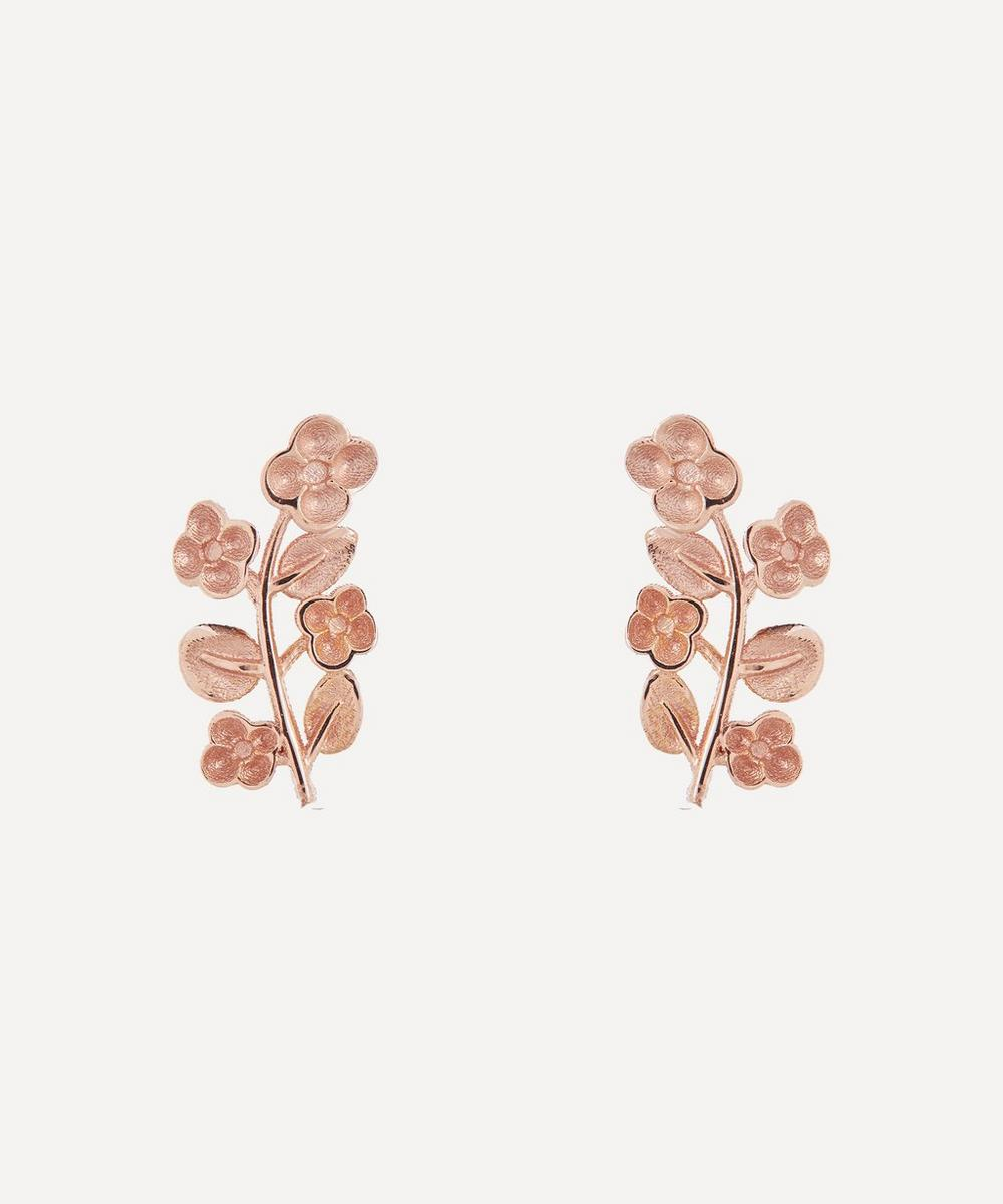 Liberty - Rose Gold Blossom Stud Earrings