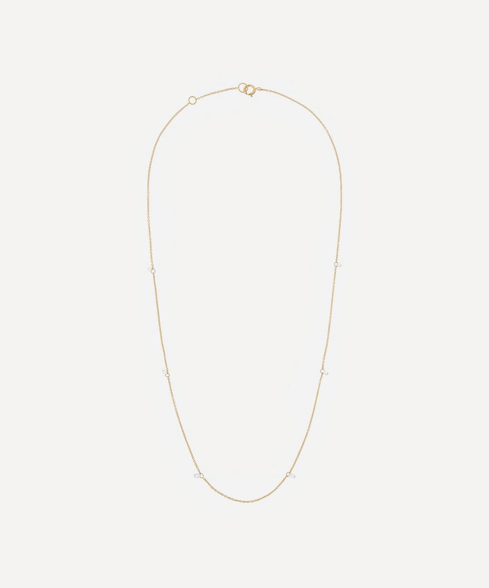 Atelier VM - Gold Filo Di Luce Six Diamond Necklace