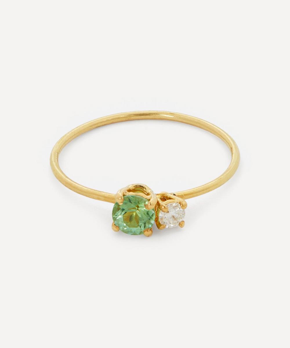 Atelier VM - Gold Principesca Diamond and Green Tourmaline Ring