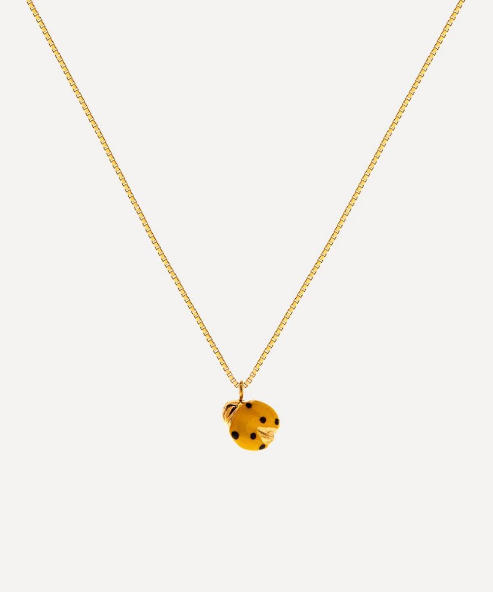 Atelier VM - Gold Coccinella Enamel Ladybird Pendant Necklace