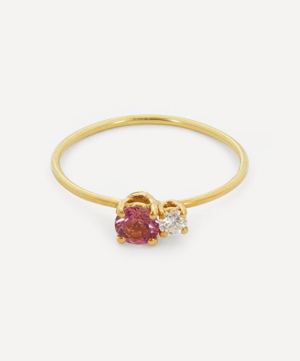 Atelier VM - Gold Principesca Diamond and Rose Tourmaline Ring