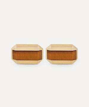 1980s 9ct Gold and Tiger's Eye Cufflinks