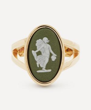 Gold Wedgwood Fairy Medium Oval Split Ring
