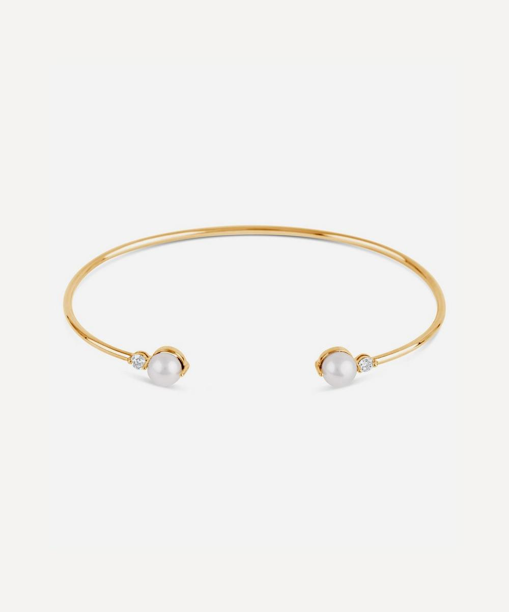 Dinny Hall - Gold Shuga Double Pearl Cuff Bracelet
