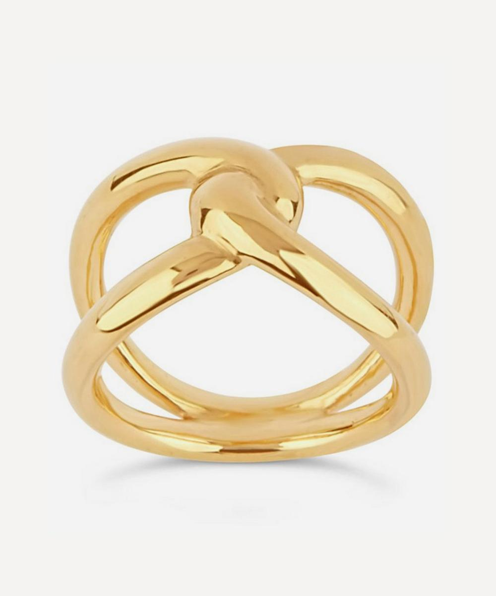 Dinny Hall - Gold Plated Vermeil Silver Twist Open Ring