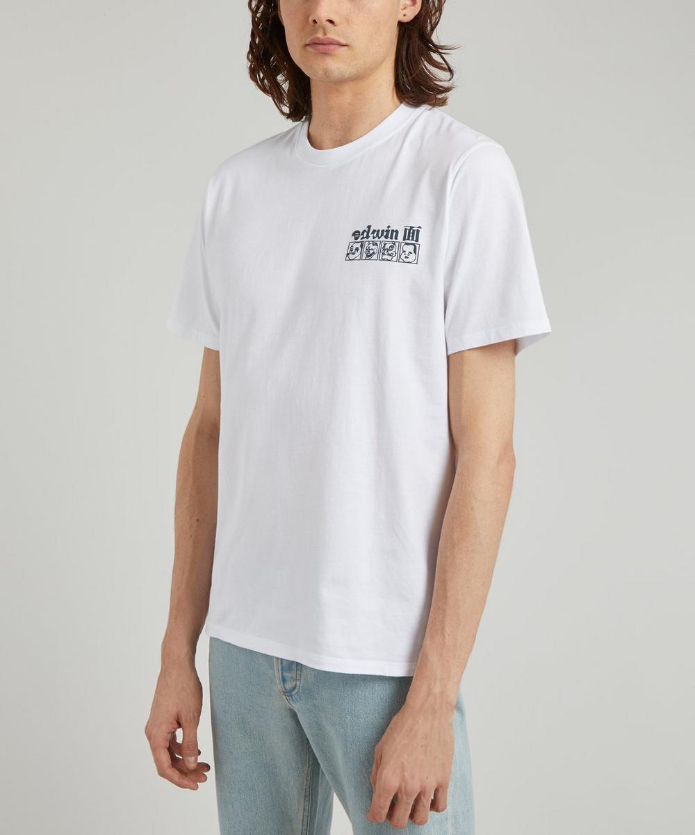 Edwin - Hokusai Noh Masks Printed T-Shirt