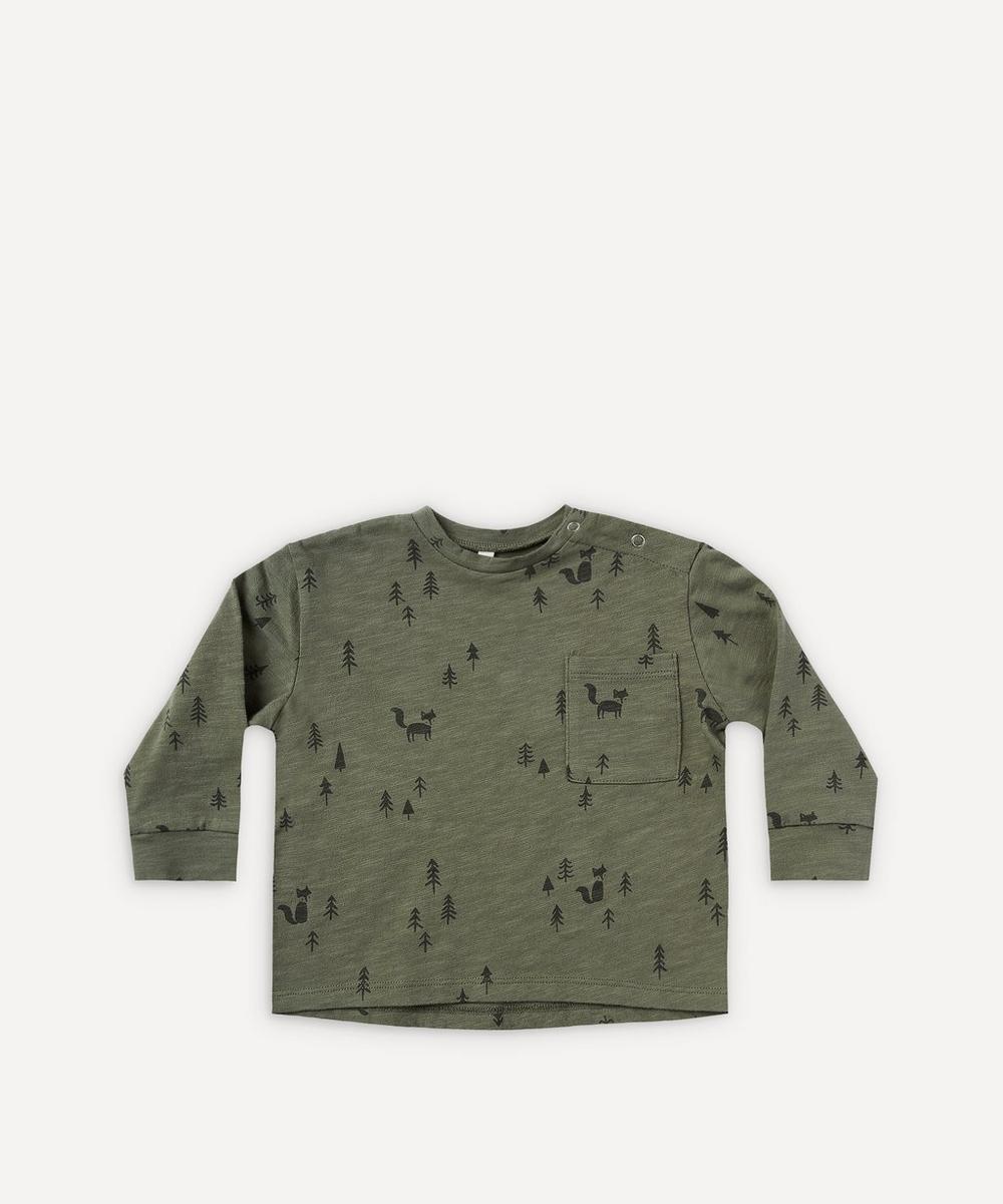 Rylee + Cru - Woods Print Long-Sleeve Skater T-Shirt 0-24 Months
