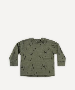 Woods Print Long-Sleeve Skater T-Shirt 2-8 Years