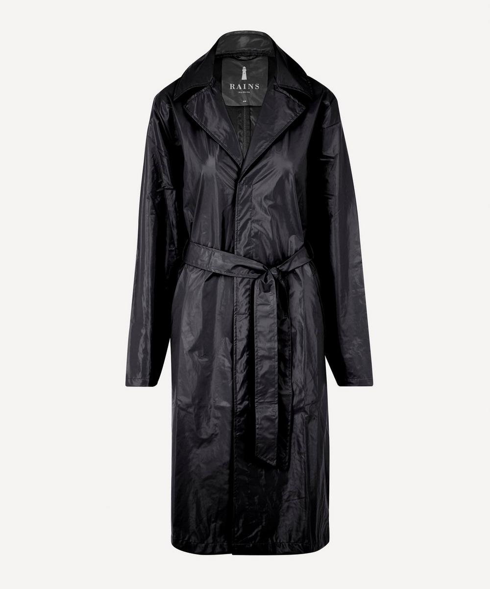 RAINS - City Belted Shiny Overcoat