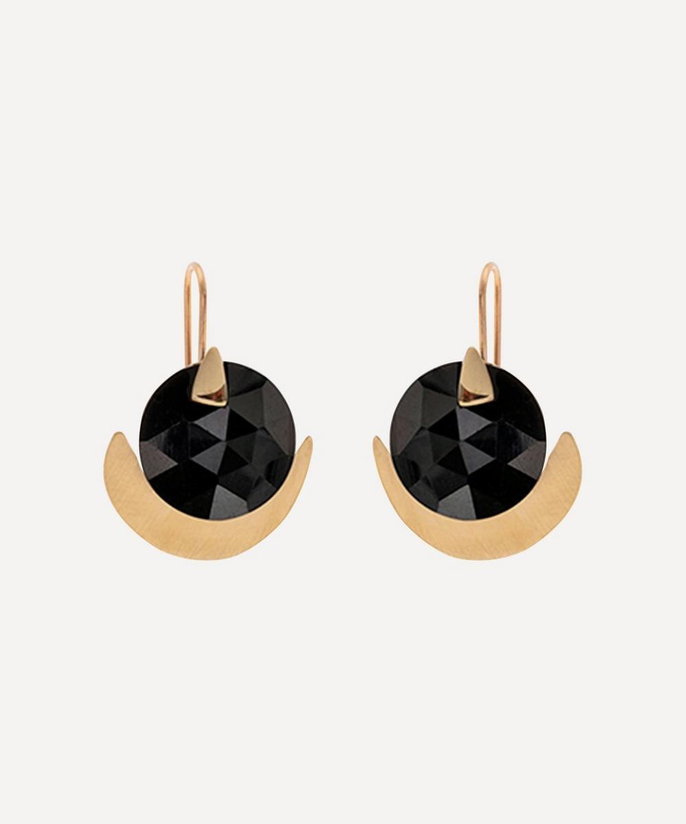 Atelier VM - Gold Dalia Onyx Earrings