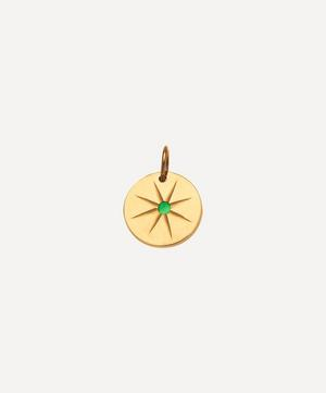 Gold Emerald Eye Charm