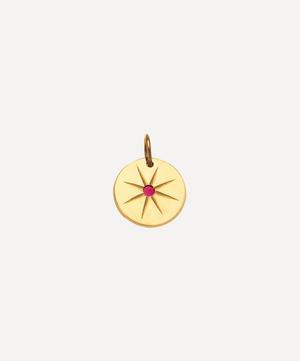 Gold Ruby Eye Charm