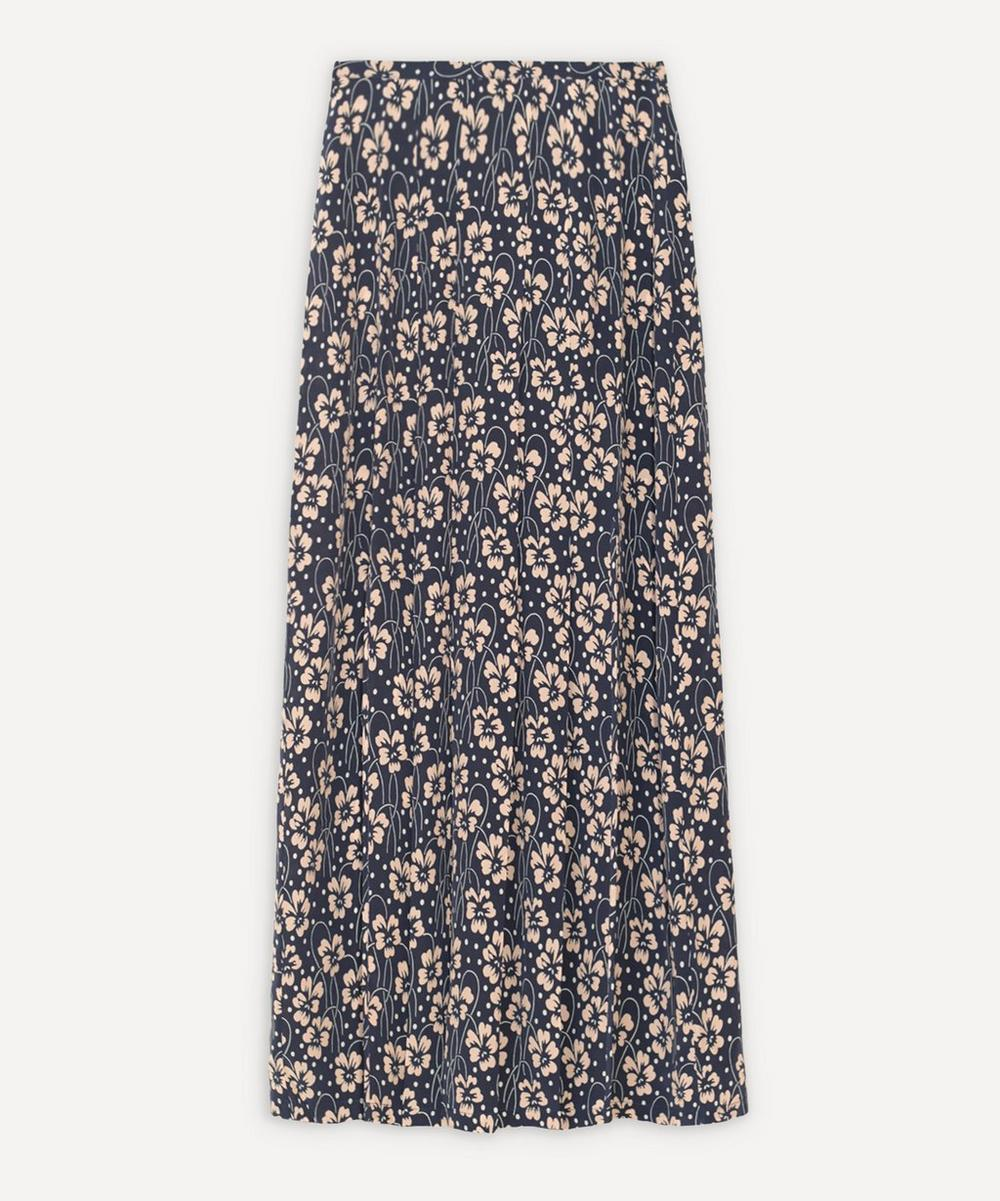 RIXO - Georgia Double-Slit Pleated Skirt