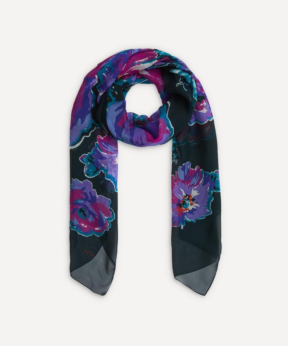 Paul Smith - Floral Print Silk Scarf