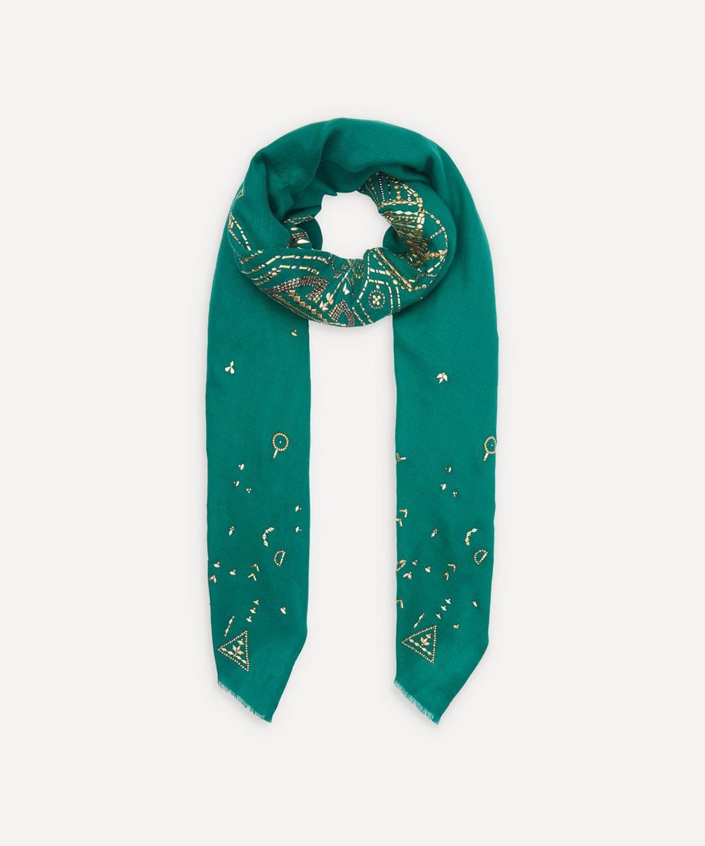 Janavi India - x Kiera Chaplin The West II Embroidered Bee Cashmere Scarf