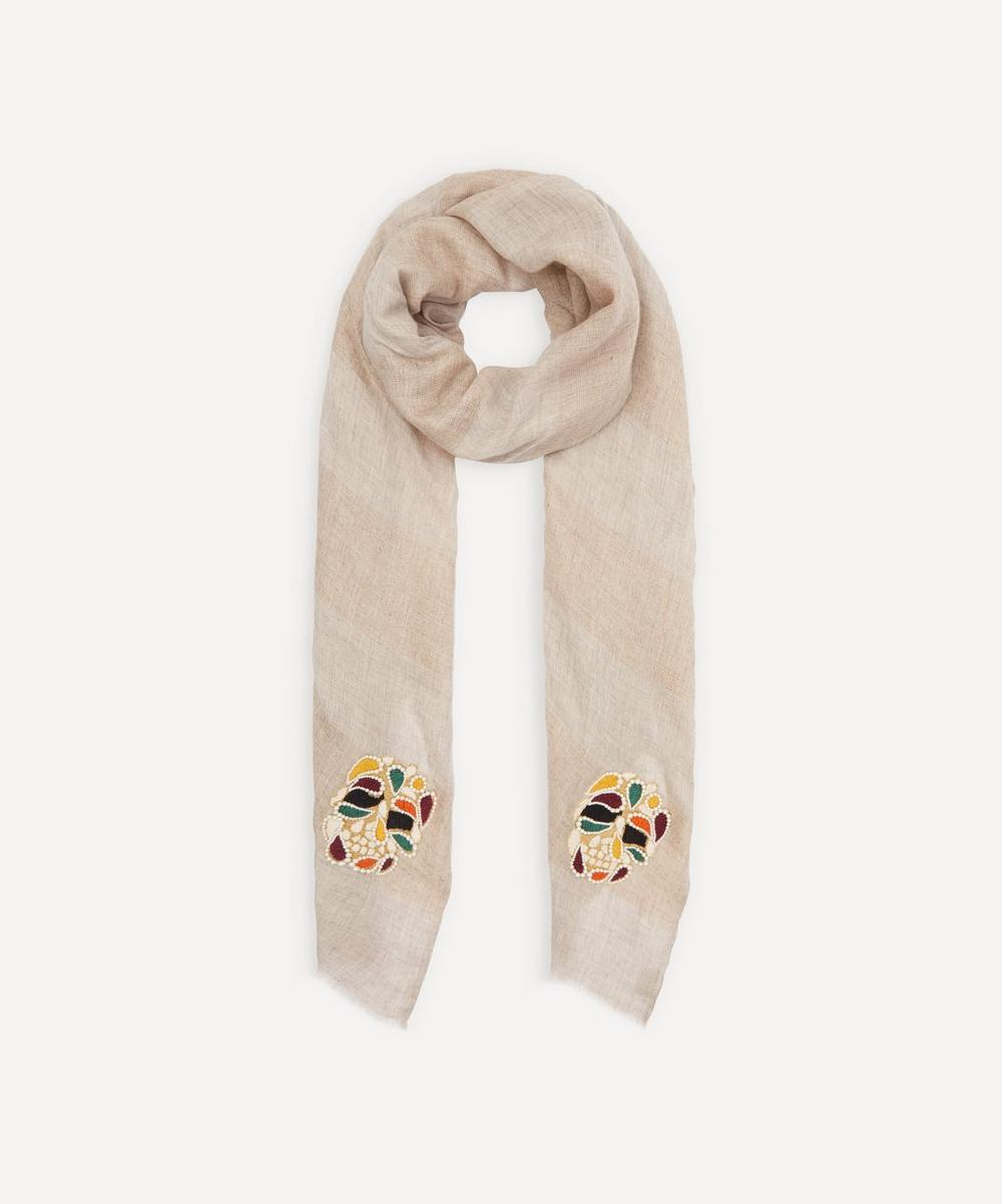 Janavi India - Pearly Skulls Cashmere Scarf