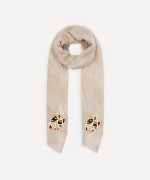 Pearly Skulls Cashmere Scarf