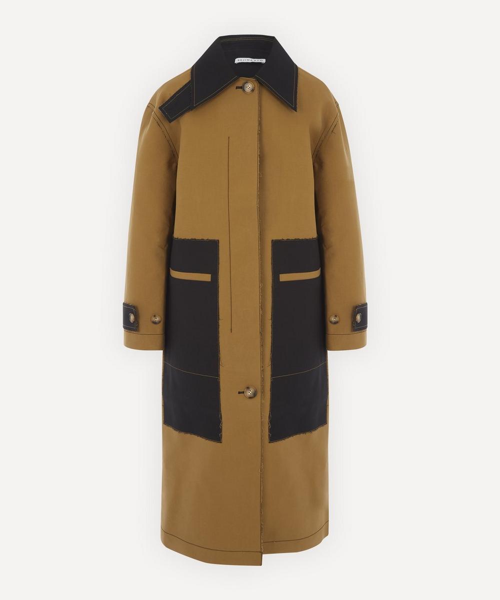 Rejina Pyo - Logan Bonded-Cotton Two-Tone Coat