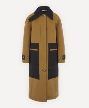 Logan Bonded-Cotton Two-Tone Coat