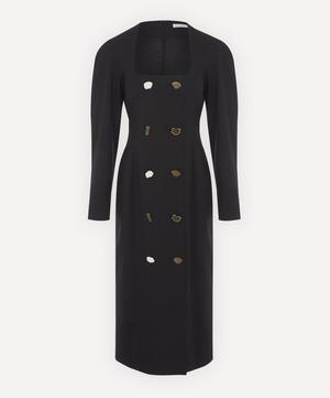 Camila Wool-Blend Long-Sleeve Dress