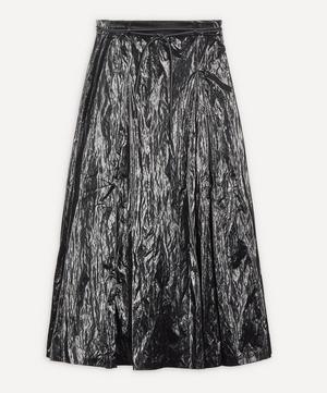 Malia Coated Satin Twill Skirt
