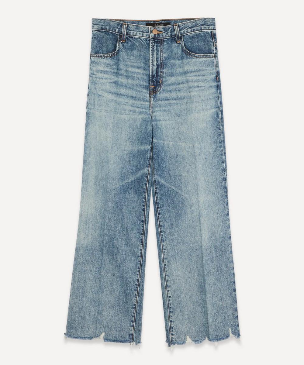 J Brand - Joan High-Rise Wide-Leg Cropped Jeans