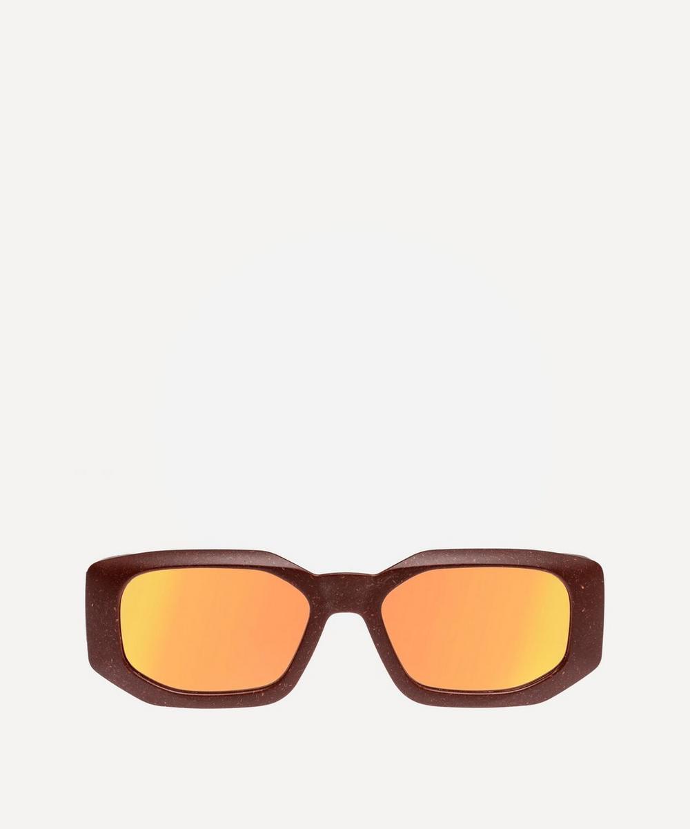 Le Specs - Grass Half Full Rectangular Sunglasses