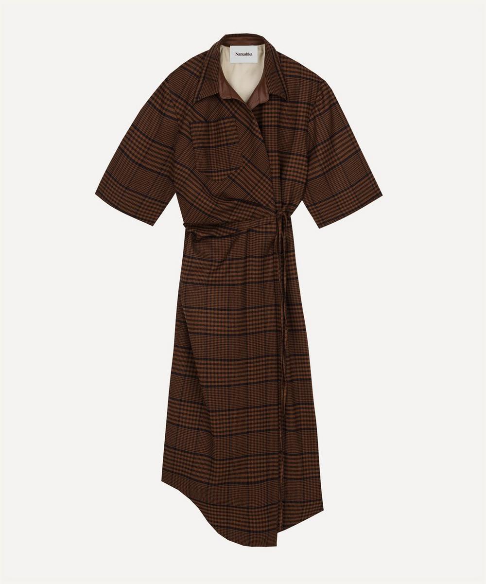 Nanushka - Lais Draped Front Short-Sleeve Dress