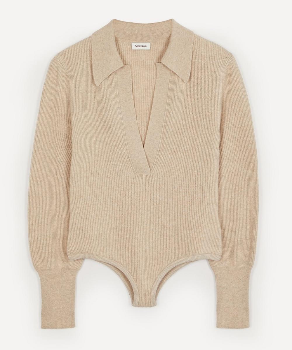Nanushka - Azha Long-Sleeve Knit Bodysuit
