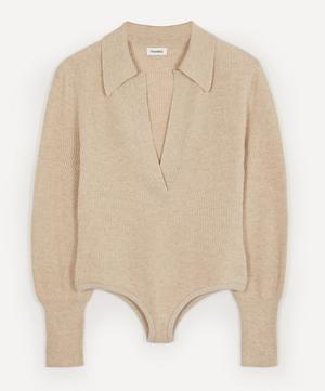 Azha Long-Sleeve Knit Bodysuit