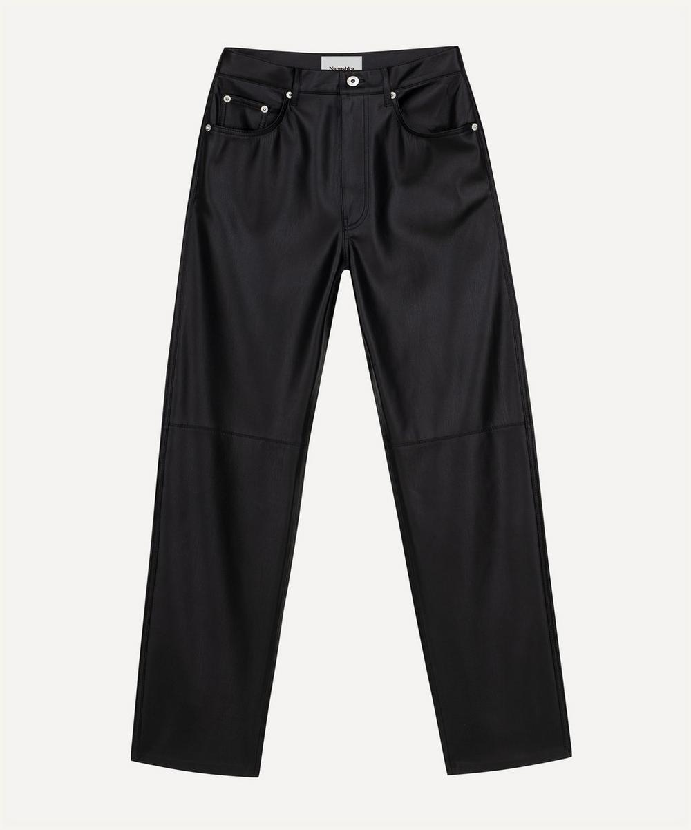 Nanushka - Vinni Five-Pocket Vegan-Leather Trousers