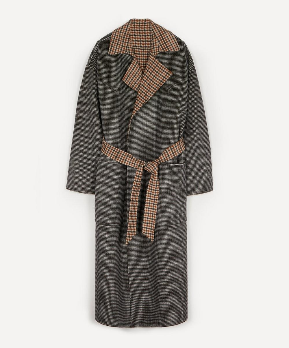 Nanushka - Alamo Wool-Silk Robe Coat
