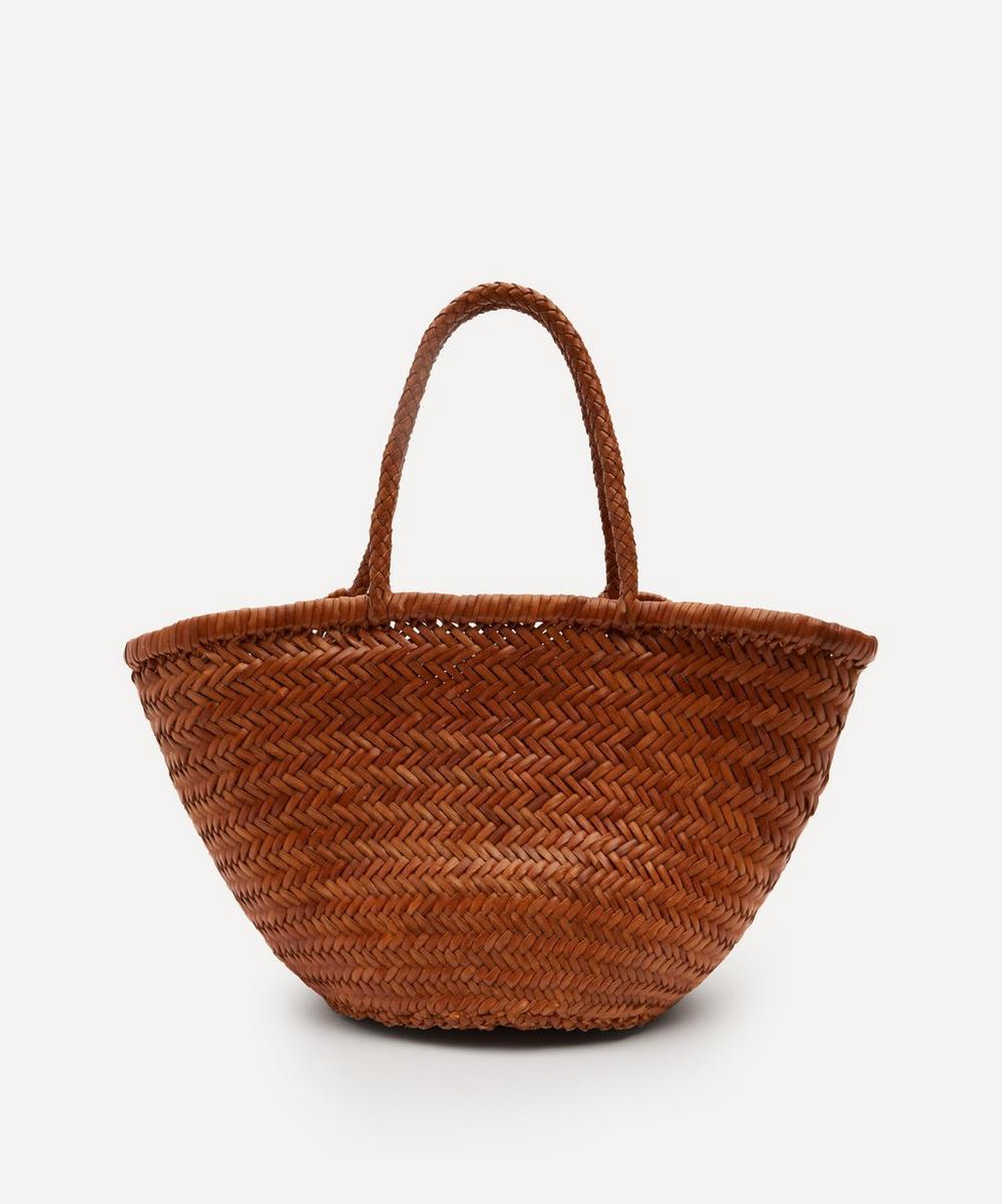 Dragon Diffusion - Kamakura Myra Diagonal Jump Woven Leather Tote Bag