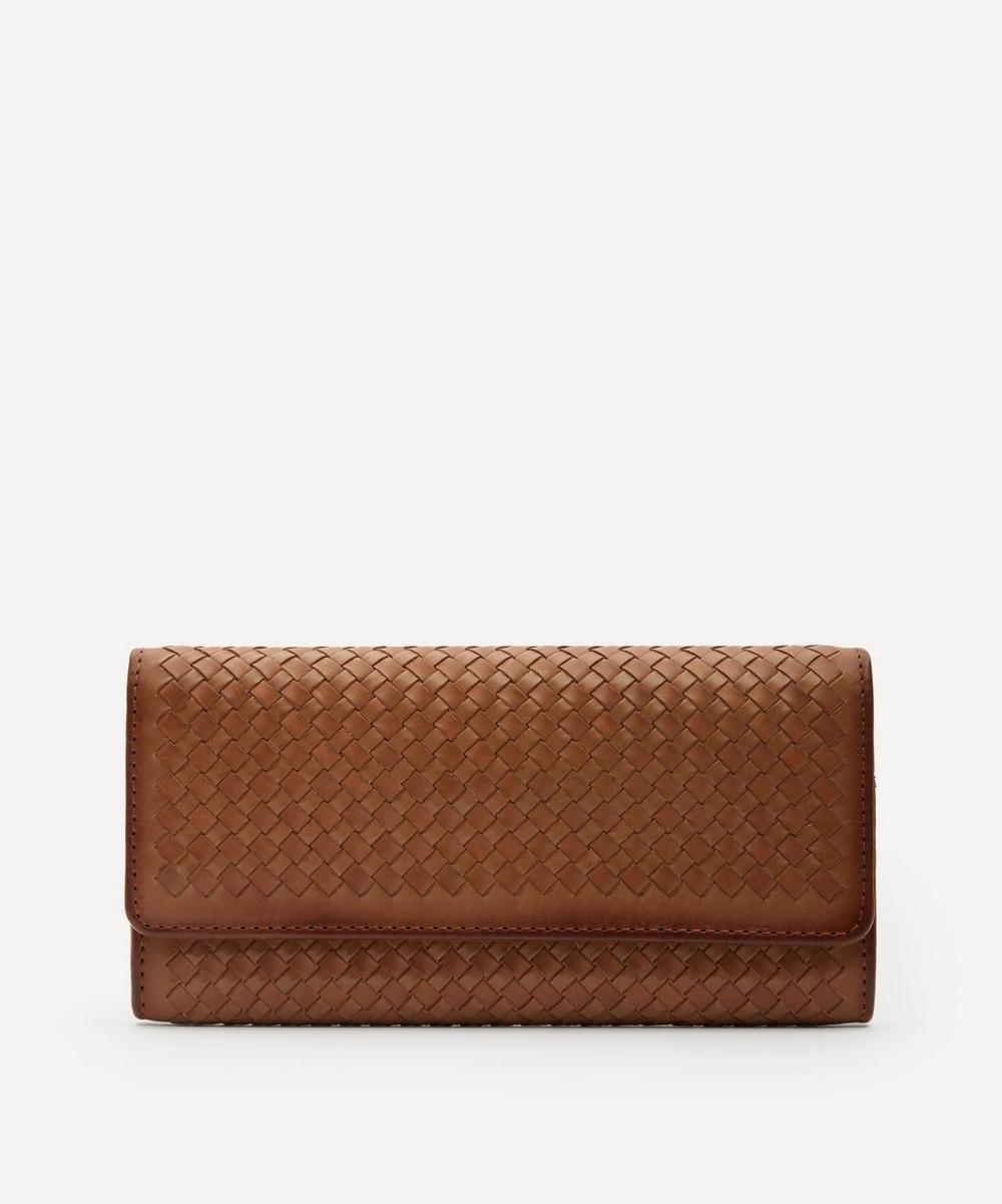 Dragon Diffusion - Interlaced Woven Leather Flap Wallet