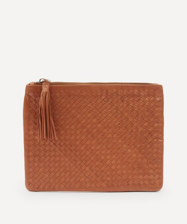 Dragon Diffusion - Large Interlaced Leather Pochette