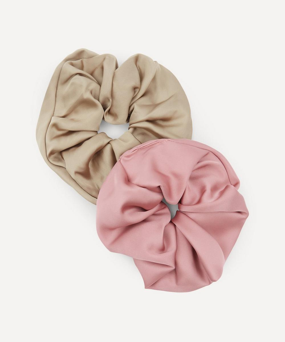 THE UNIFORM - Oversized Silk Scrunchies Set of Two