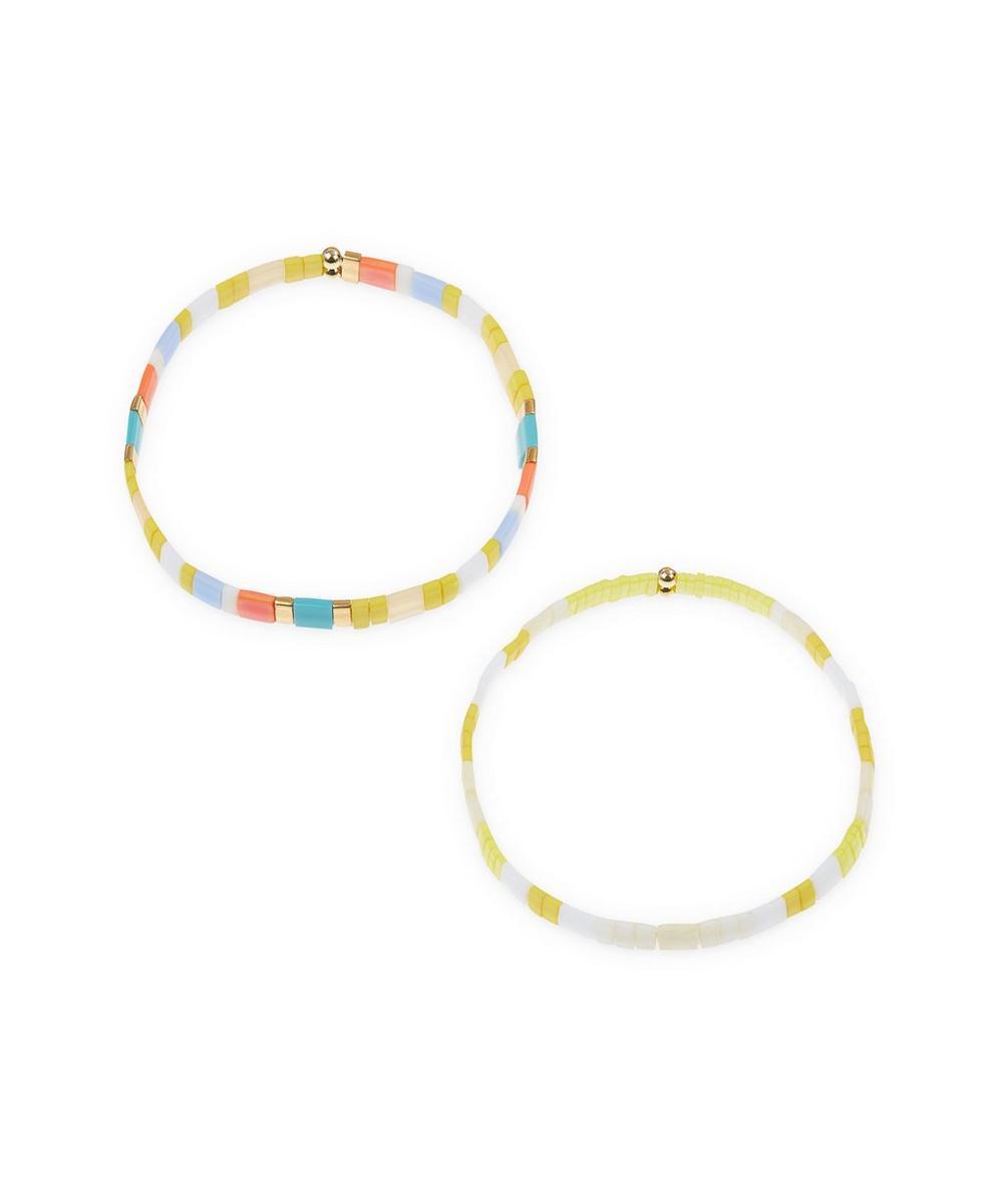 THE UNIFORM - Coloured Glass Bead Bracelets Set of Two