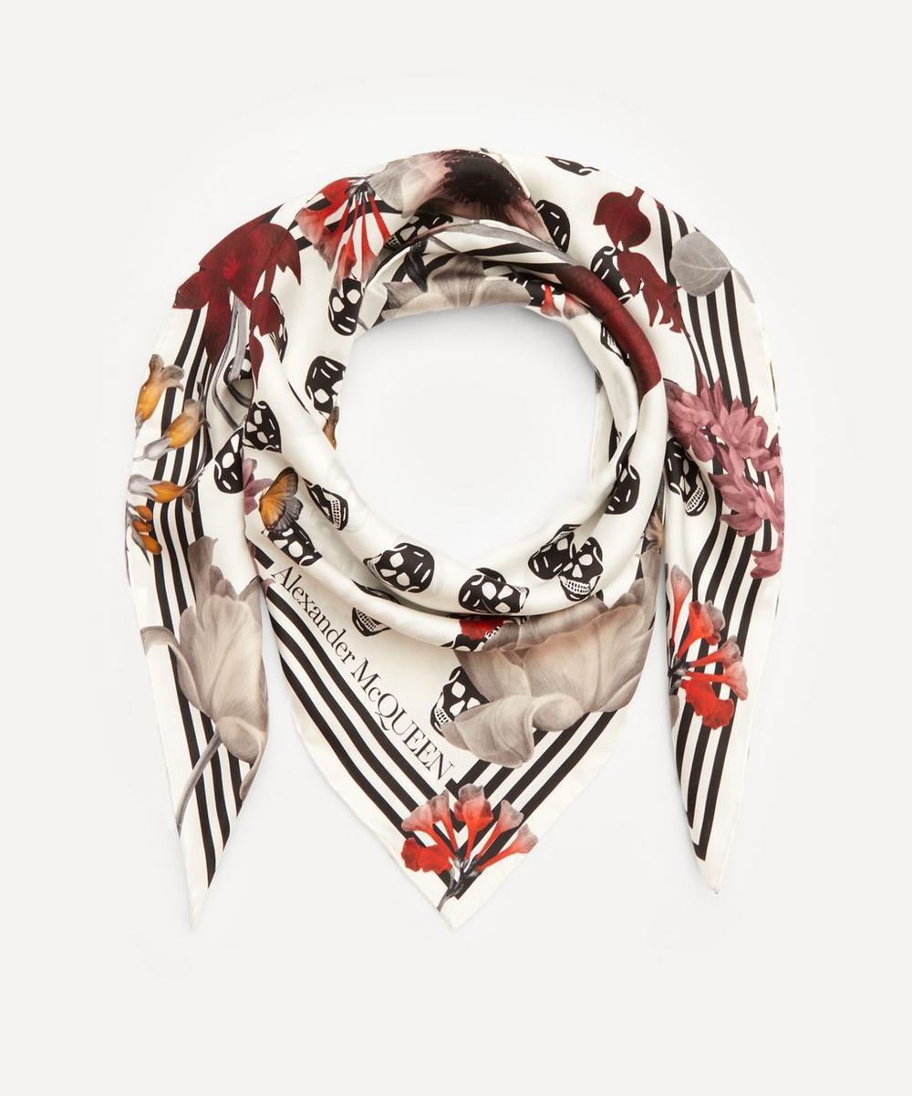 Alexander McQueen - Biker Floral Skull Scarf