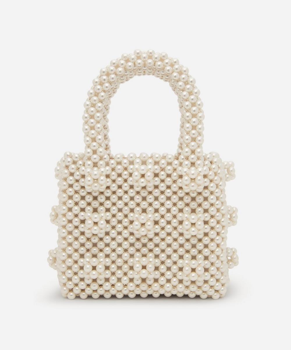 Shrimps - Mini Antonia Faux Pearl Beaded Handbag