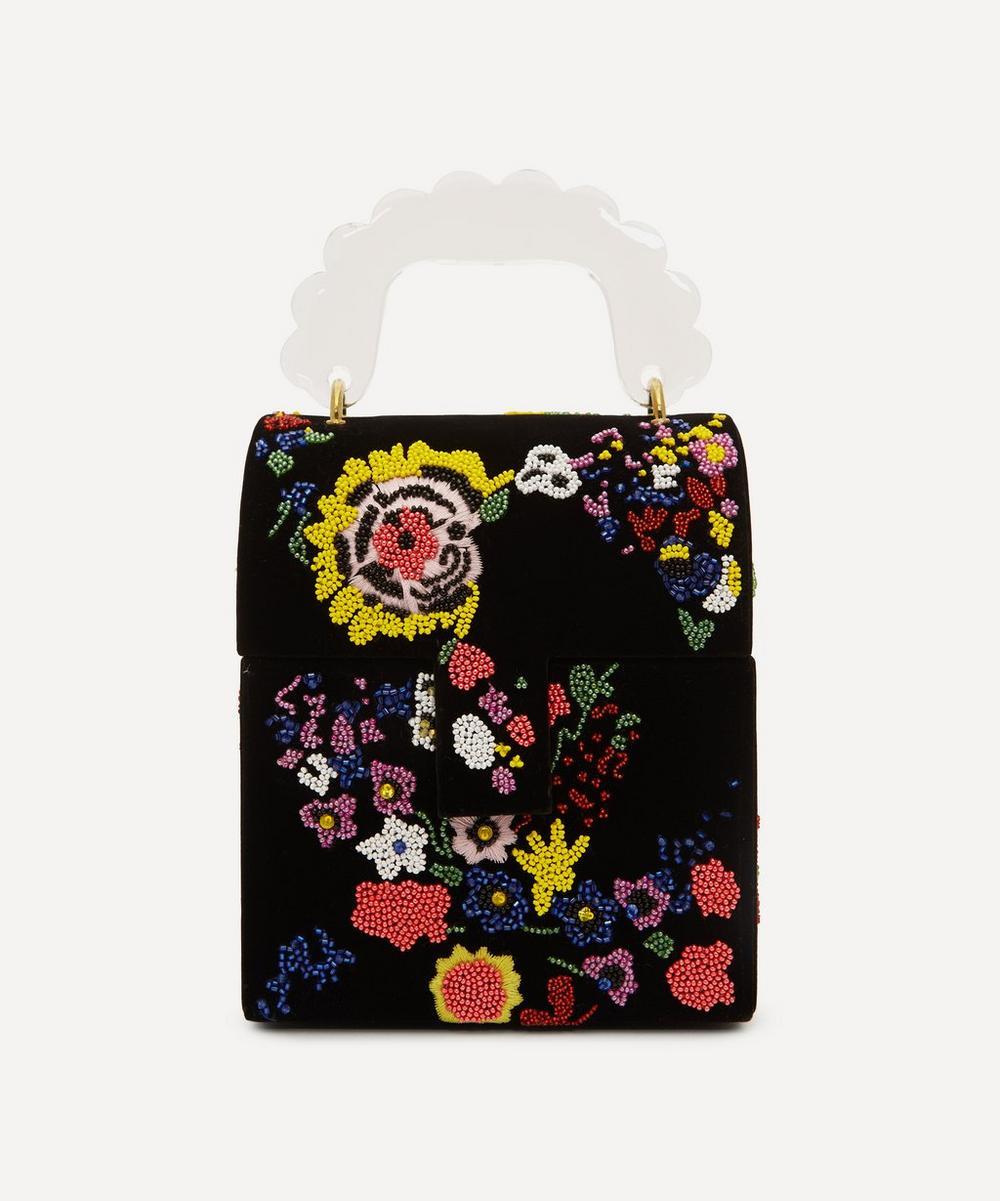 Shrimps - Bingley Floral Beaded Velvet Handbag